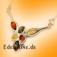 Amber Necklace Flower 6122