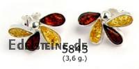 Amber Earstuds Flower 5843