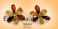 Bernstein-Silberohrstecker Flower 5844