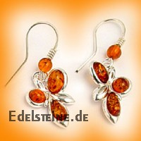 Amber Earring Flower 5895