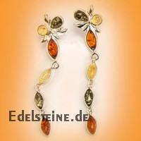 Amber Earring Flower 5886