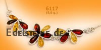 Amber Necklace Flower 6117
