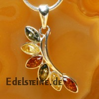 Amber Pendant Flower in Sterlingsilver 1843