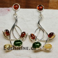Amber Earring Flower 5409