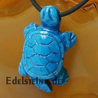 Magnesit Blau Schildkröten-Anhänger
