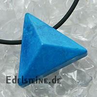 Magnesit Blau Anhaenger Triangle