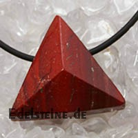 Red Jasper Pendant Triangle