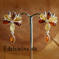 Amber Earstuds Flower 5845