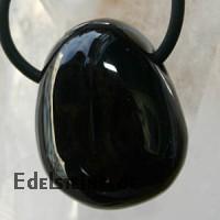 Gold Obsidian Trommelstein gebohrt