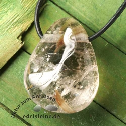 Rutilated Quartz Pendant transparent AA