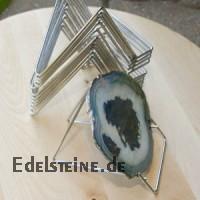 Deko Staender Metall 10 cm für Mineralien und Fossilien