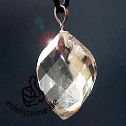 Bergkristall Anhänger mit Öese facettiert