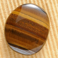 Tiger Eye Flat Handstones AA 45x35mm