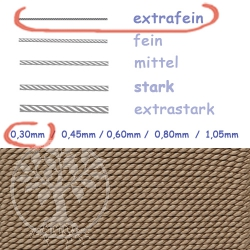 Natural Silk brown beige 0,30mm
