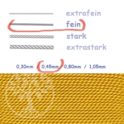 Perlseide bernsteinfarben 0,45mm fein
