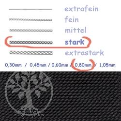 Perlseide Schwarz 0,80mm stark