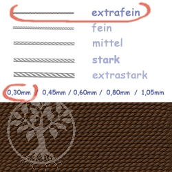Natural Silk brown 0,30mm