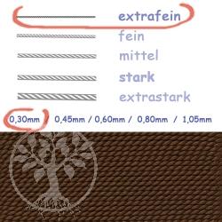 Perlseide Braun 0,30mm extrafein