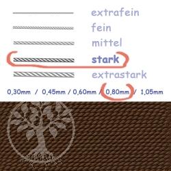 Perlseide Braun 0,80mm stark