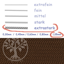 Perlseide Braun mit Nadel 1,05mm extrastark