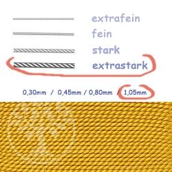 Perlseide bernsteinfarben 1,05mm extrastark