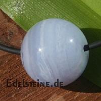 Chalcedony ball pendant