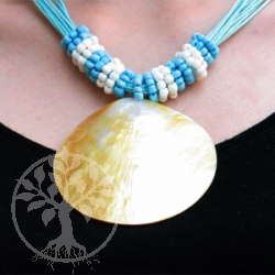 Nacre Collier - blue band