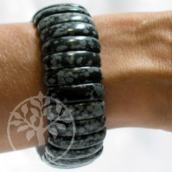 Schneeflocken-Obsidian Armband