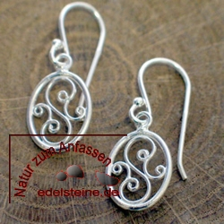 Silver Earring ETHNO 3