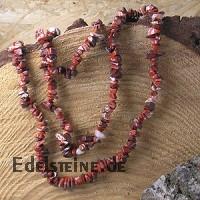 Roter Jaspis Splitterkette Edelsteinkette
