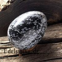 Snowflake Obsidian egg semi-precious-stone