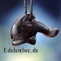 Delfin aus Blaufluss klein