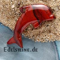 Roter Jaspis Delfin gross