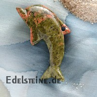 Unakit/Epidot Delfin gross