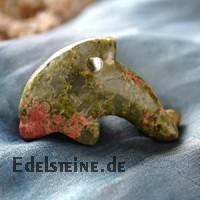 Delfin aus Unakit/Epidot klein