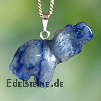 Blue Quartz Elefant Pendant