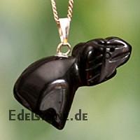 Onyx Elefant schwarzer Elephanten Anhänger