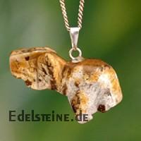 Landschafts-Jaspis Elefantenanhänger aus Edelstein