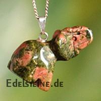 Unakit/Epidot Elefant Edelstein Anhänger