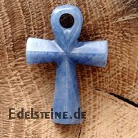 Ankh-Kreuz aus Blauquarz
