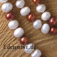 Pearl necklet red/white