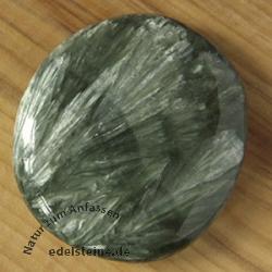 Serafinit Chakrastein flacher Edelstein Seraphinite AA 35/45mm
