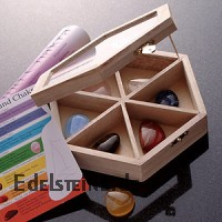 Chakra Set 7-er semi precious stones Box Flat Stones