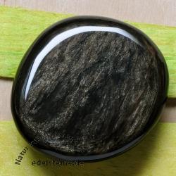 Silber-Obsidian Chakrastein