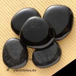 Silver Obsidian Chakra Stones 5 Pieces