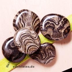 Stromatolith flat semi-precious stones 5 Pieces