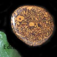 Schlangen-Jaspis Seifenstein 5 Stück flache Steine braune Schlangenhautsteine
