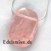 Rose Quartz Pendant Rectangled