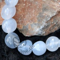 Chalcedon Trommelstein - Armband A