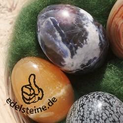 Osterkörbchen mit 5 Edelstein-Eiern mit Körbchen